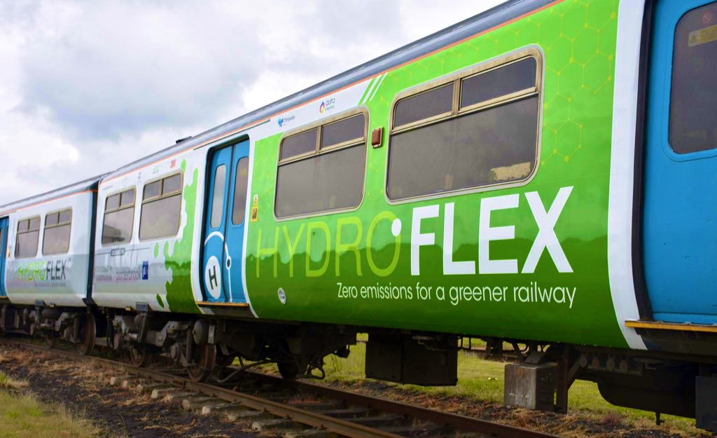 The UK's first hydrogen train makes its debut at Rail Live